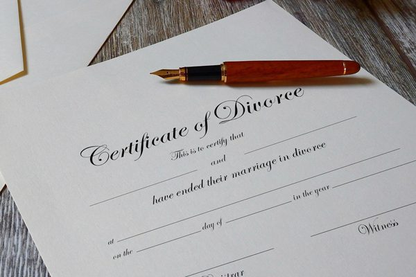 Image of a certificate of divorce